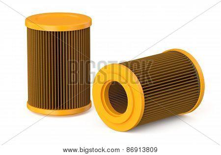 Orange Car Air Filter