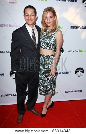 LOS ANGELES - MAR 31:  David Carrillo, Katie Wallace at the