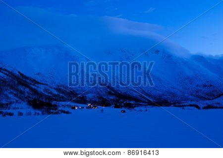 Arctic farm in a valley