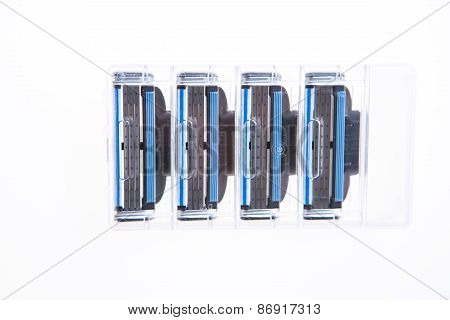 Cartridges Razor For Shaving Isolated On White Background