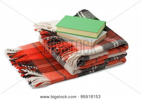 Checkered Blanket And Books
