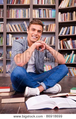 Spending Time In Library.