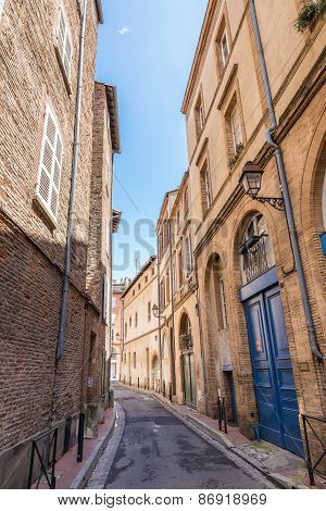 Narrow Street In Toulouse In France
