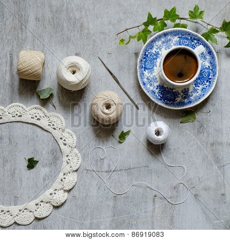 Crochet And A Cup Of Coffee