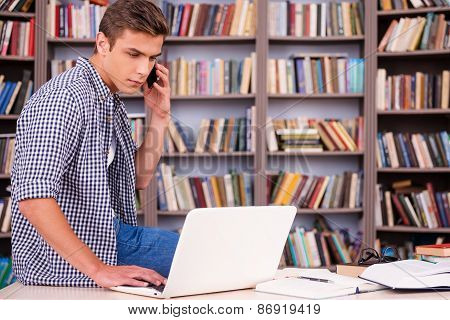 Full Concentration On Studying.