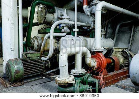 Retro Spaceship Engine Diesel