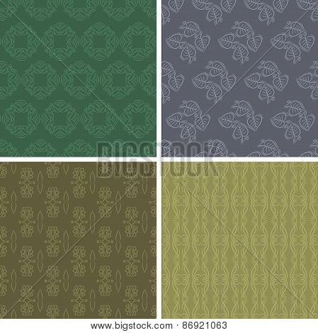 Patterns And Seamless Backgrounds. Printing Onto Fabric And Paper Or Scrap Booking