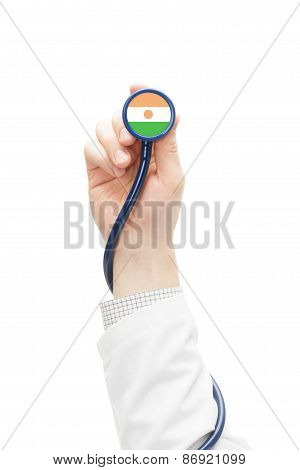 Stethoscope With National Flag Series - Niger