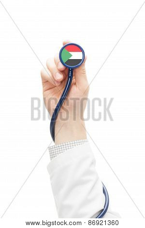 Stethoscope With National Flag Series - Sudan