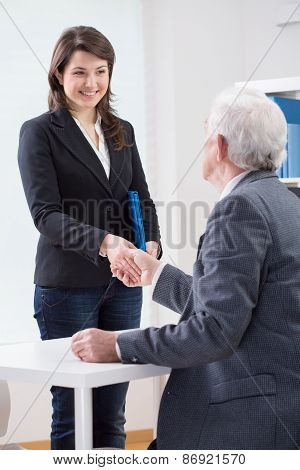 The End Of Successful Job Interview