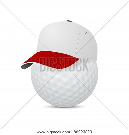 Cap On A Golf Ball