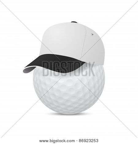 Vector Cap On A Golf Ball