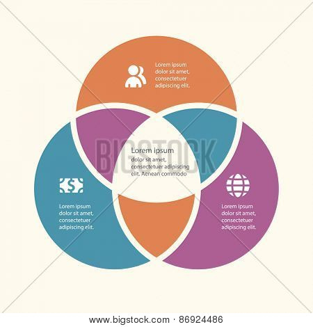 Vector infographic template for cycling diagram, graph, presentation and chart