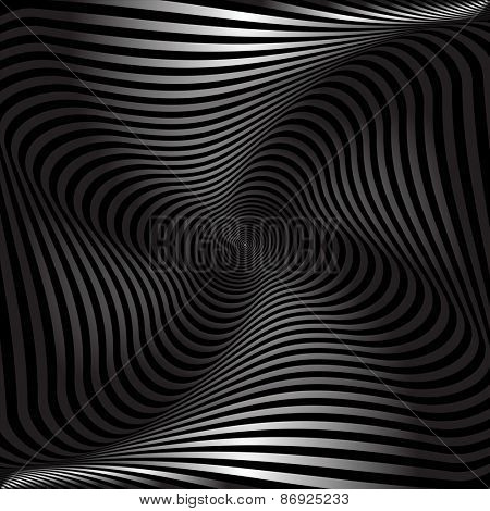 Twisting movement. Abstract textured background. Vector art.