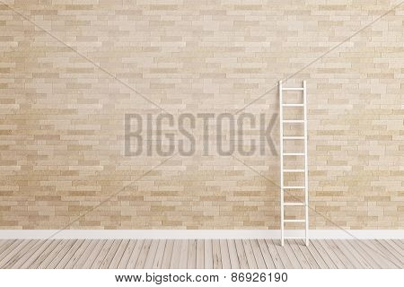 ladder lean on wall