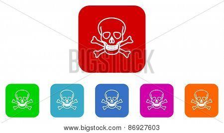 skull vector icons set