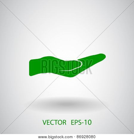 Holding palm icon, vector illustration
