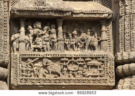 Life Depiction In Stone