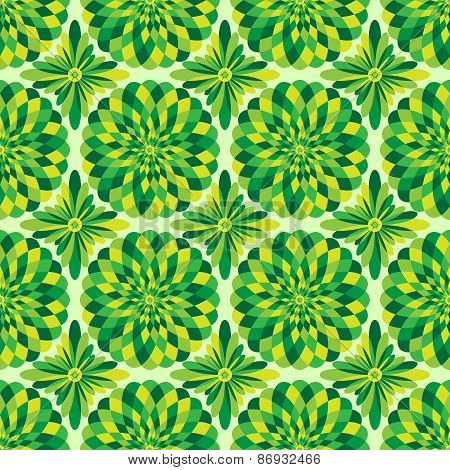 Vector abstract seamless green pattern