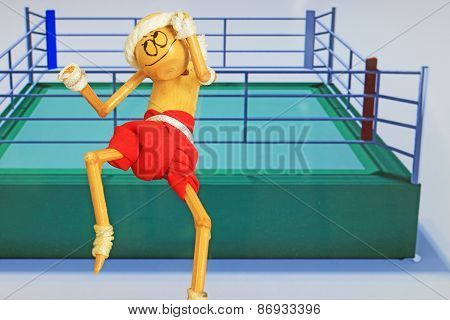 Hand Made Figure Imitating Thailand Boxer Muay Thai