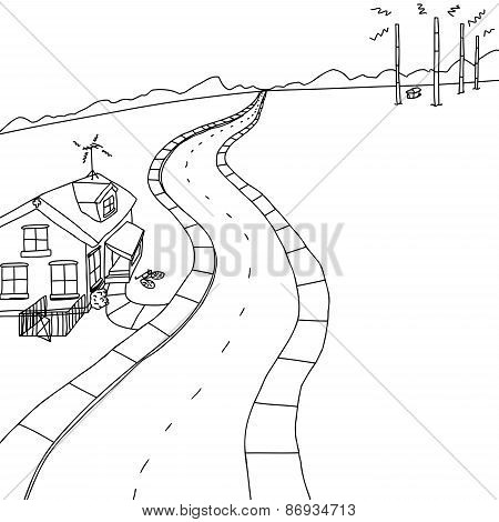Outline Of House Near Transmitters