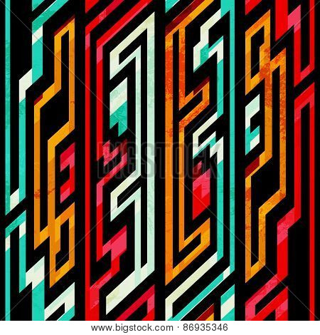 Bight Tribal Seamless Pattern