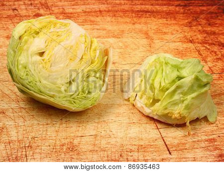 Isolated Lettuce Head