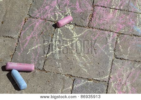 Chalk On The Sidewalk