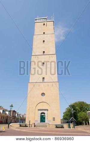 Lighthouse the Brandaris at Dutch wadden island Terschelling