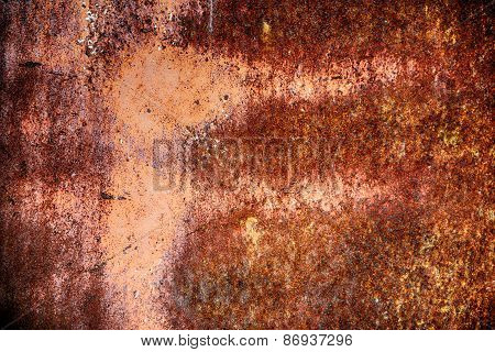 Rusted Metal Wall.