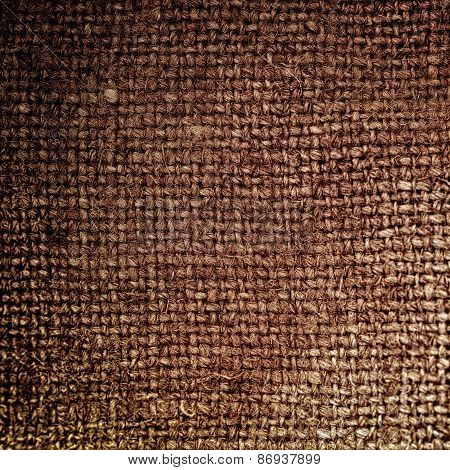 Rectangle From  Brown Sackcloth Background