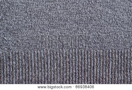 Old Gray Woolen Fabric Texture