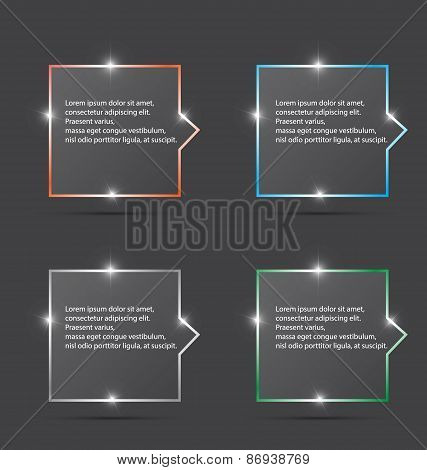 Color Of Speech Box With Spark For Design . Vector Illustration
