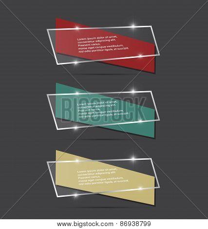 Speech Color Box With Spark. Vector