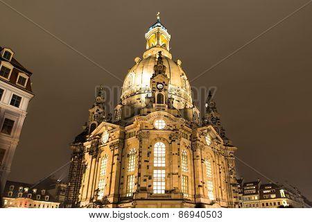 Illuminated Frauenkirche Church
