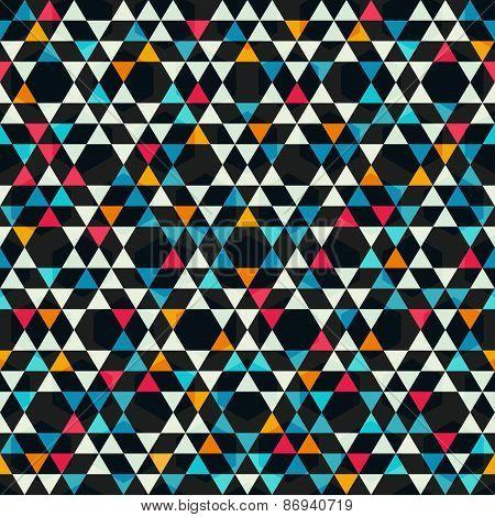 Kaleidoscope Colored Seamless Pattern