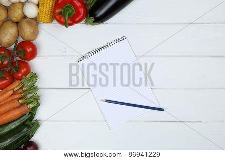 Shopping List For Healthy Vegetarian Vegetables