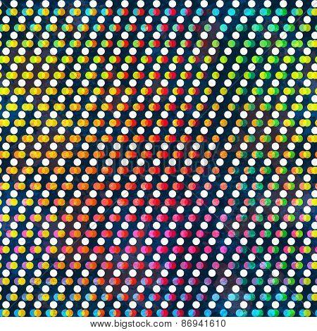 Rainbow Color Circle Seamless Pattern