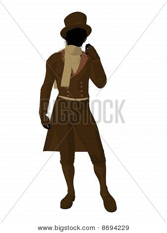 Victorian Man Illustration Silhouette