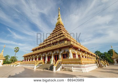 Phra Mahathat Kaen Nakhon Temple (or Phra That Nong Waeng) - Thai Buddhist Temple, In Khon Kaen, Tha