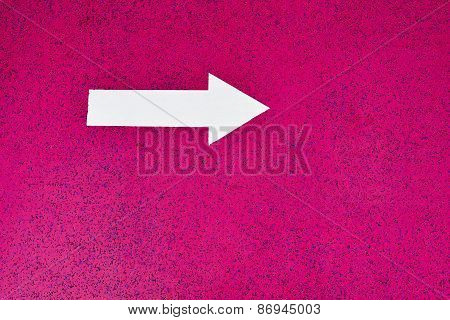 Isolated White Arrow Sign