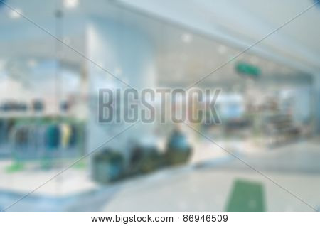 Abstract blur of clothing store