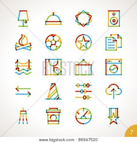 Vector Highlighter Line Icons for any purpose Set 5