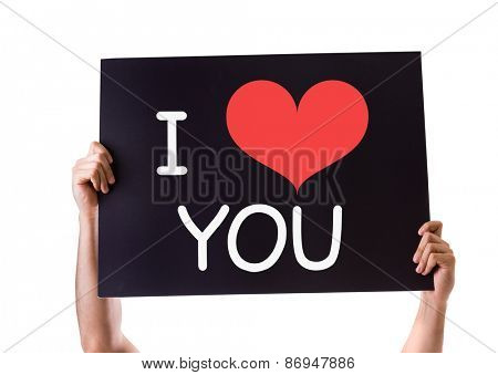 I Love You card isolated on white