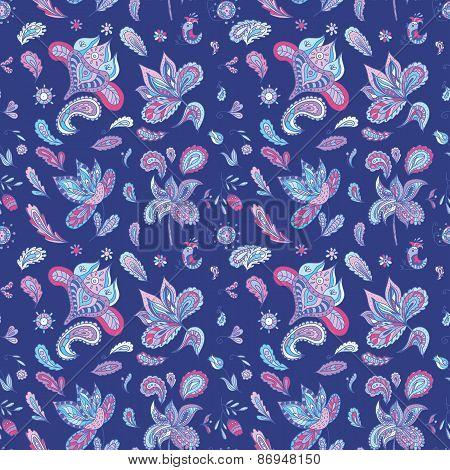 Blue Indian Pattern