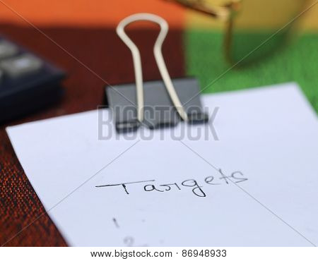 Paper Clip With White Paper