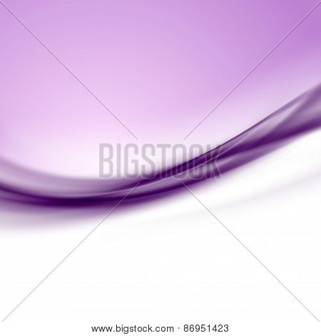 Purple Satin Smooth Swoosh Line Abstract Modern Background