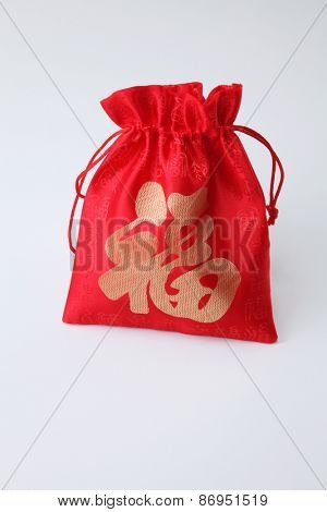 lucky bag on the white background