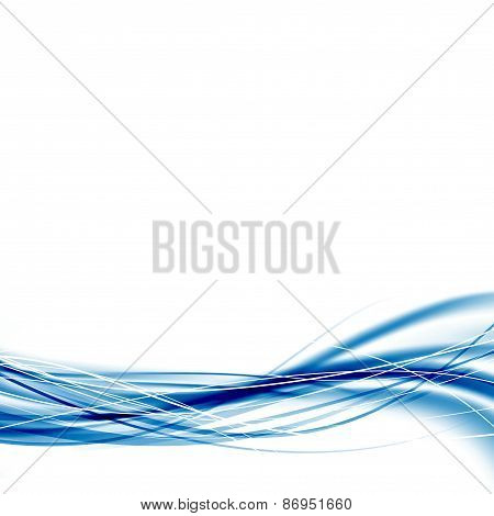 Modern Speed Blue Wave Abstract Business Template