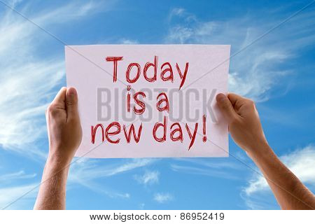 Today is a New Day card with sky background
